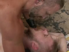 Dirk Caber pokes With A blonde chap In A Wareshouse