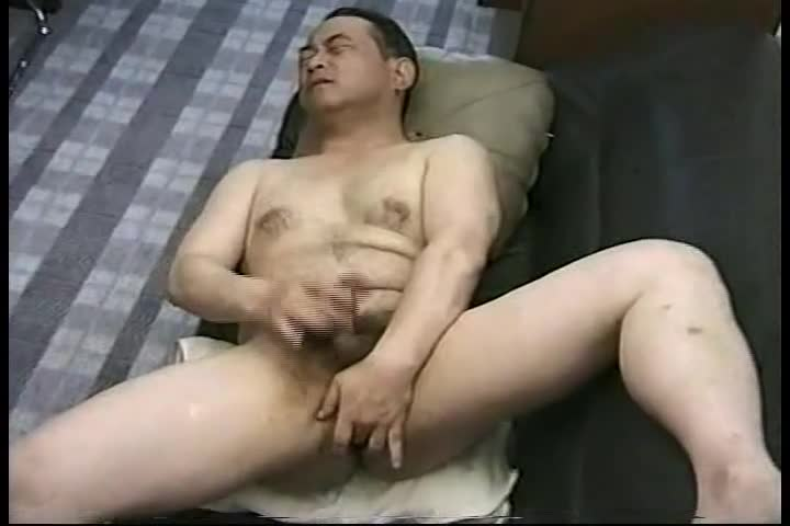 ball good Looking handsome Japanese daddy Single action.  Jack Off