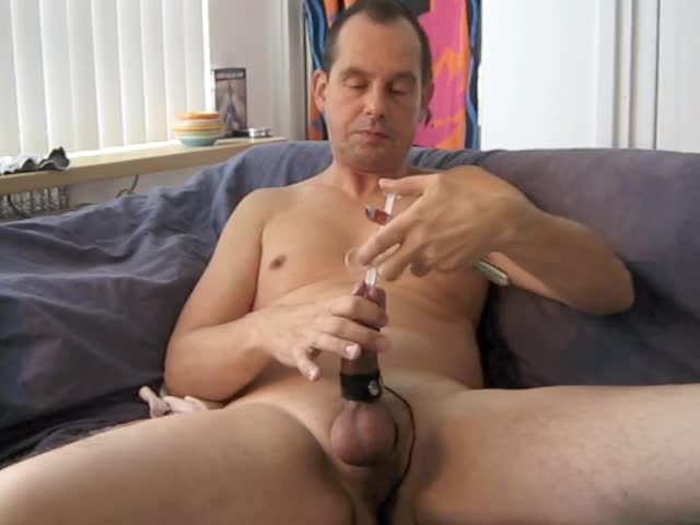 A hawt Masturbating Session With Electro Stimulation And Sounding My knob.