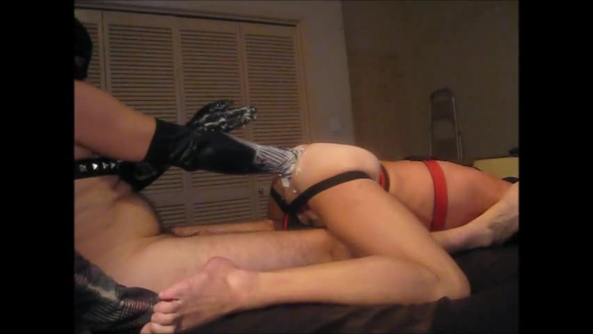 We Got Some new Gloves And daddy Gives them A sex semen d Breaking In.  actually worthwhile And Smooth Going In And Out Of My hole.  I Have This Feeli