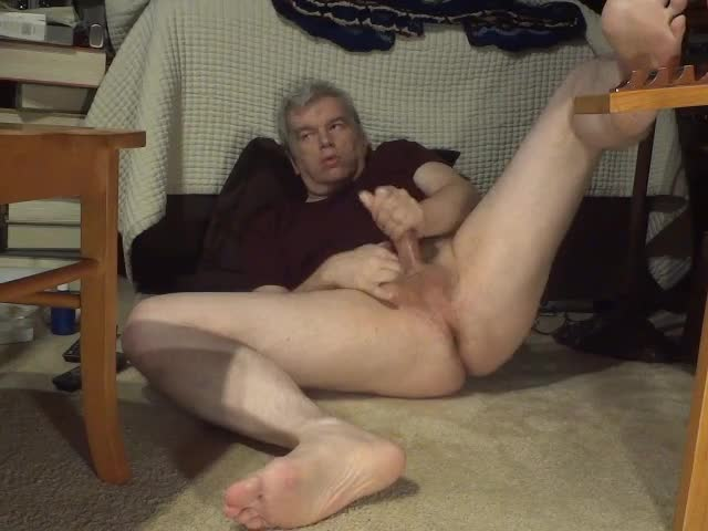 spreading My Legs Wide And Jerking My penis