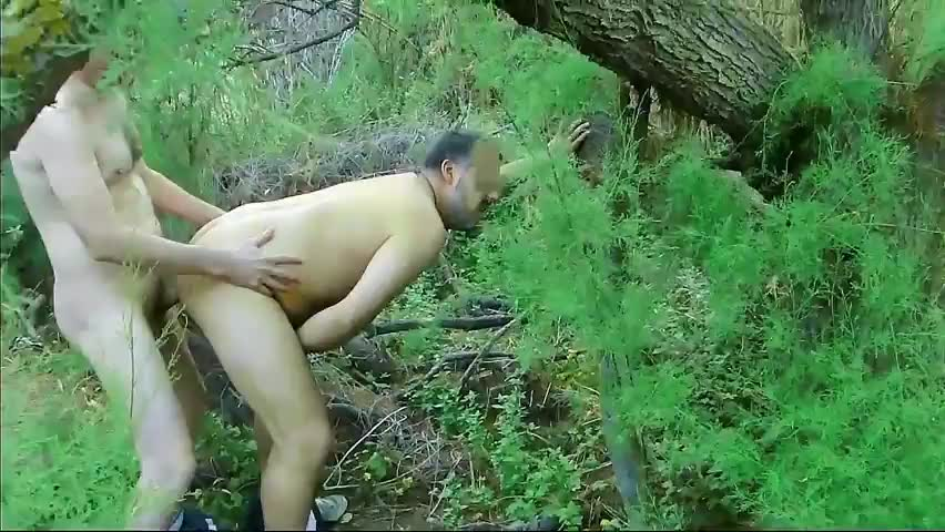 slamed nakedback In The Woods