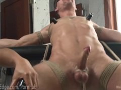 bound stud love juices In Own mouth