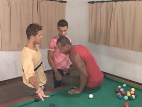 tight homosexual 3some On Tthellos dude Pool Table