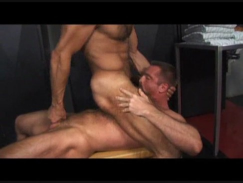 Blake Nolan And Arpad Miklos pound dark guy