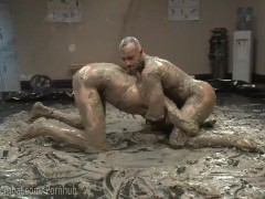 Mud Wrestling bondage butthole