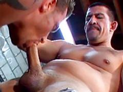 Erik York & Joe Romero Give homosexual Tuneups In The Garage!