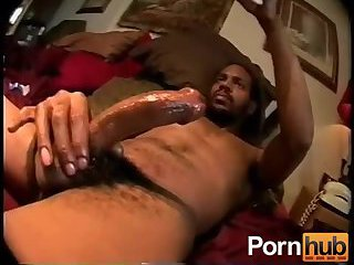 Muscle darksome dude Whacking Off