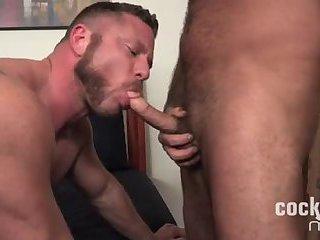 beefy guys In Tats ass Ramming