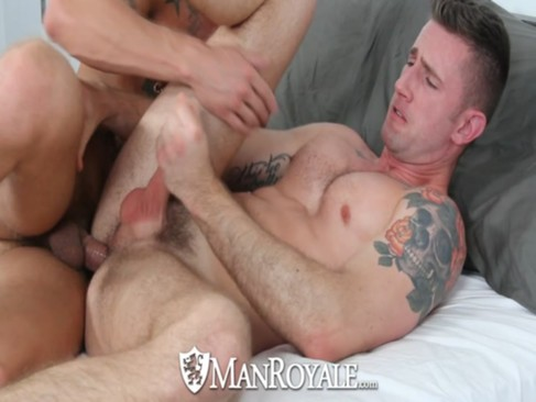 HD ManRoyale - lovely Tattooed guy Sucks A C