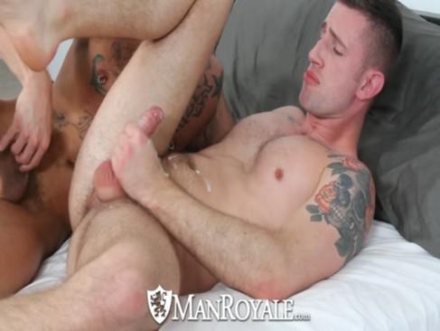 HD ManRoyale - lovely Tattooed guy Sucks A C