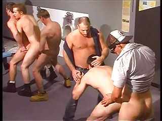 concupiscent Trucker In gay orgy