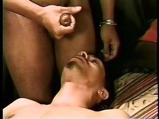 black Bodybuilder Stuffing White anal