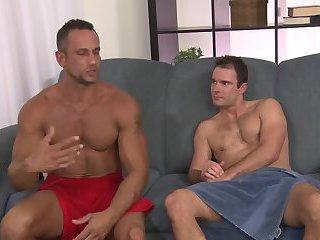 Muscle studs engulfing & fucking