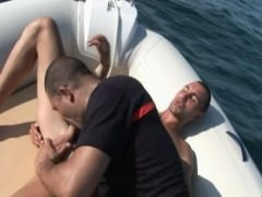 French Firefighters plow On The Sea