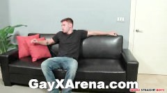 chap Jerking dirty On sofa