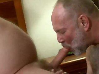 Three mature dudes Sex pleasure