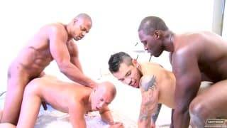 A homosexual Interracial bang Scene