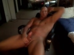 Bald Muscle dude jerking off And tasty sperm discharged