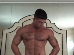 stylish Muscle man bound And Tickled - Derek Atlas