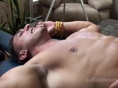 Bodybuilder Dancer fastened And Tickled - Mario