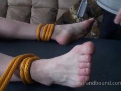 big Bodybuilder bound And Tickled - Wesley metallic
