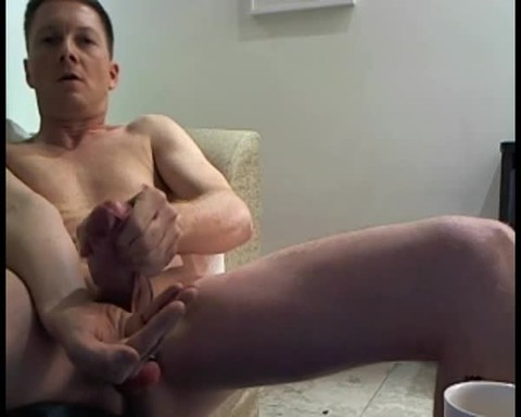 Jerkin In Hotel Room, With Ballweight On - Sniffin Poppers And Shootin A nice Load - As Usual