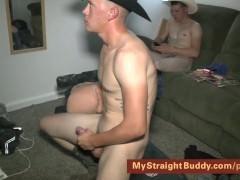 Straight Marine Buddies Jerking & Smoking