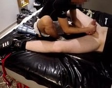 Hung & cute Slaveboy Proxy Beeing Milked And Edged For Hours. he's Introduced To E-stim For The First Time, Had To Go Trough Some Real knob Polishing