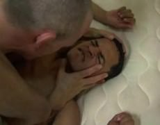 yummy  Daddy  Top  Feeds  His knob  To  His  Bottom  Then  Eats  Him Out  And  raw  slams  Him.