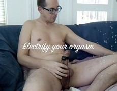 An Estim (electro Stimulation) Edging Session With A dirty sex cream flow.