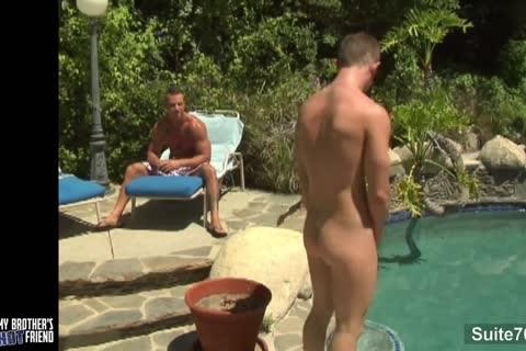 naughty gays plowing In Outdoor Pool