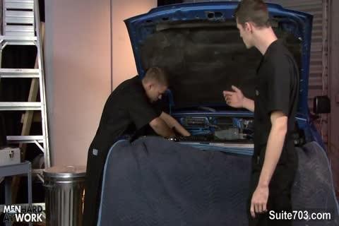 homo Mechanics plowing In The Garage