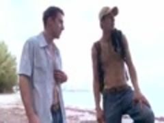 Two dilettante guys In Ttgreetingss dude Beach