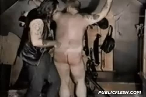 Retro gay Bear thrashing And bdsm