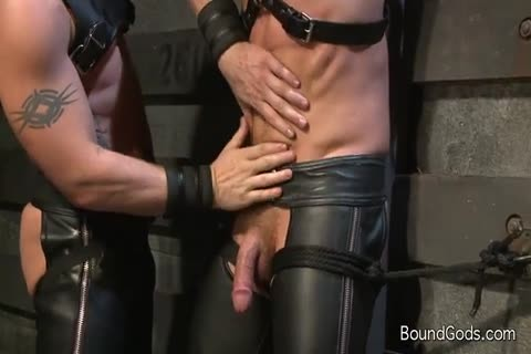 Hung White guy In Leather receives Off homosexual chap