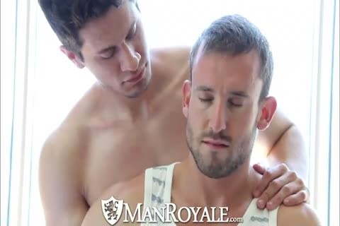 A Massage Turns Into A engulf Fest With 2 charming fellows