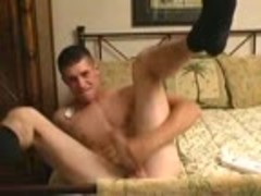 Hung Straight Military twink Jerks It
