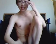sexy Vietnamese gay twink Jerking His large shlong And shoots A large Load