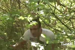 gay Action In Forest Pleasures 'em both