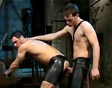 Two  wild  Fuckers   enjoy  The  Feel  And  Look  Of  Leather  And  Each  Other
