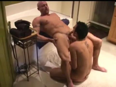 juvenile fellow bonks Bald daddy Muscle boy In