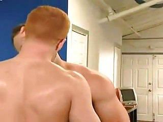 Muscle guy And young Redhead