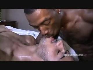 naughty Interracial three-some Creamy Sex
