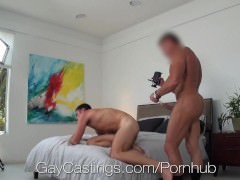 HD GayCastings - juicy Straight guy With biggest 10-Pounder audition For homo Porn
