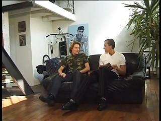 boy Sucks Boyfriends enormous penis On The Sofa