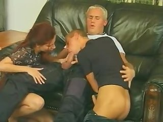 Redhead girl Joins Two slutty blond gay boyz As They Make Love