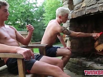 young Cub bondage group sex