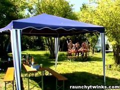 astonishing homo dicks group-sex outdoors