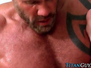 Muscly Tat guy sperm Cover